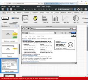 Wireframe in Balsamiq (Web)
